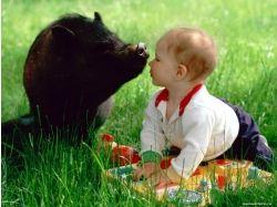 Картинки животные и дети