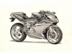 Рисунки мотоциклов карандашом