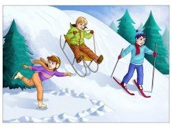 Зимние забавы картинки для детей скачать
