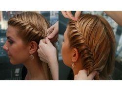 Плетение на короткие волосы фото