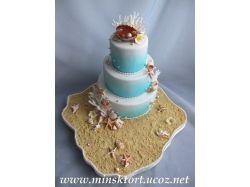 Торт на жемчужную свадьбу фото