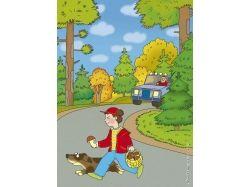 Дорожные ситуации в картинках для детей