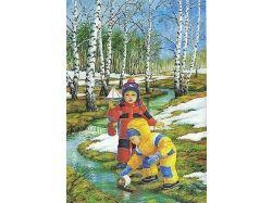 Картинки развивающие для детей про весну