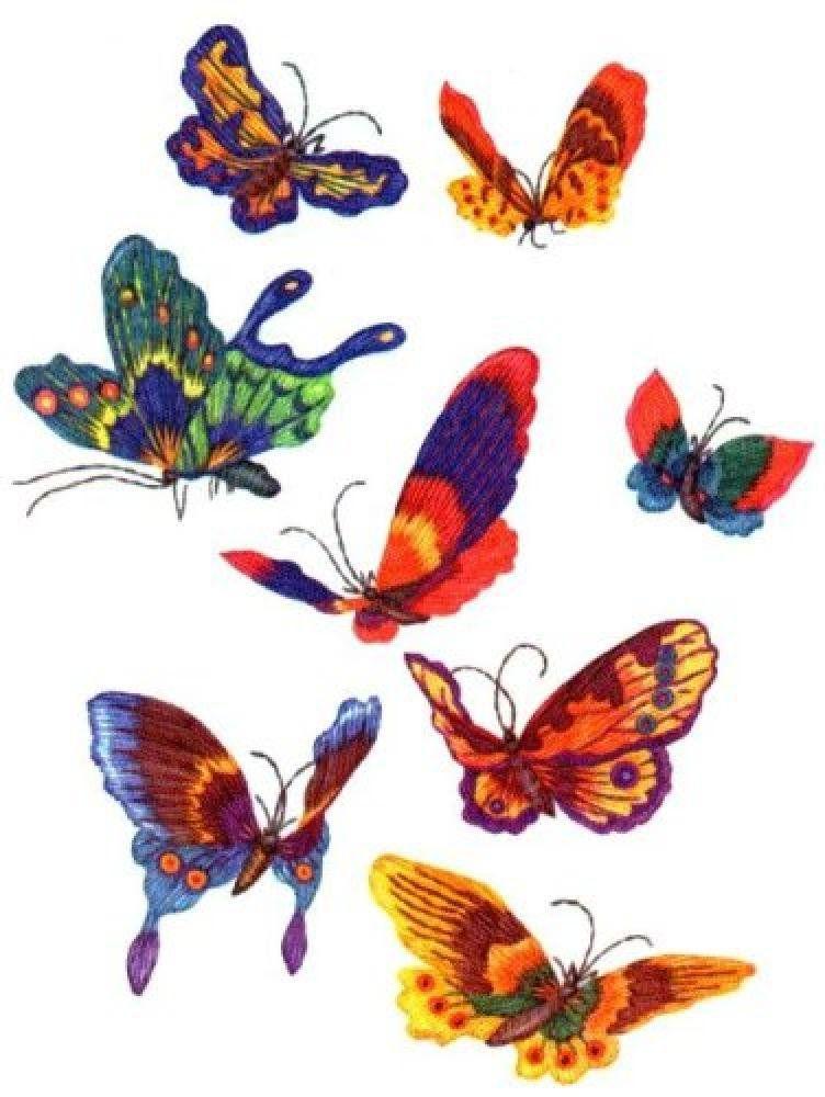 Бабочки для вышивки гладью картинки 50