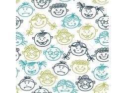 Нарисованные лица детей картинки
