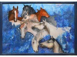 Батик рисунки лошадей