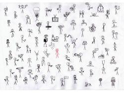 Чёрно белые рисунки людей