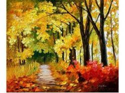 Рисунок осень красками