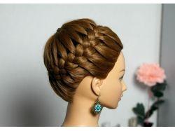 Фото плетение на средние волосы