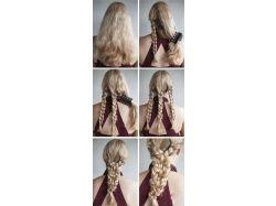 Плетение кос фото на короткие волосы