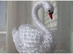 Поделка лебедь фото