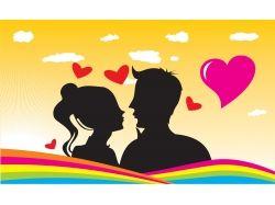 Самые красивые картинки влюбленных пар