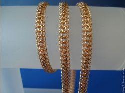 Плетение итальянка цепочка золото фото