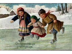 Новогодние открытки германии