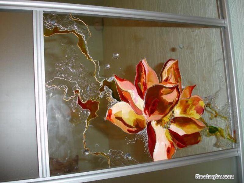 Роспись витраж своими руками на стекле