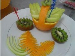 Как красиво нарезать фрукты фото