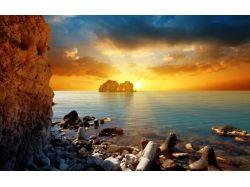 Красивые картинки море и закат солнца