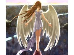 Картинки аниме ангелы девушки