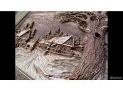 Красивая резьба по дереву фото