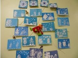 Детские рисунки на тему зима