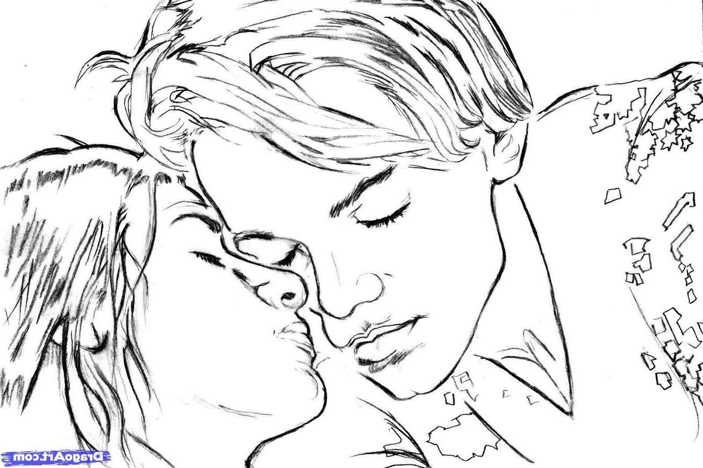 Рисунки карандашом про любовь для него поэтапно