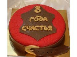 Торт на кожаную свадьбу фото