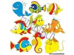 Картинки для детей морские жители