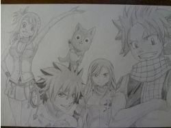 Рисунки аниме хвост феи