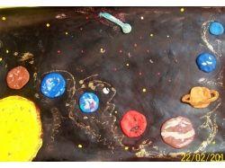 Поделки рисунки на тему космос