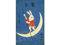 Новогодние открытки японские