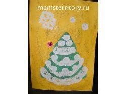 Новогодняя открытка ёлочка