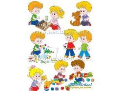 Дети в детском саду картинки рисованные