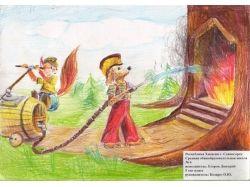 Рисунки и поделки на тему пожарная безопасность