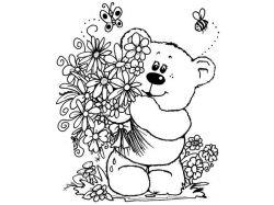 Картинки цветы для раскраски