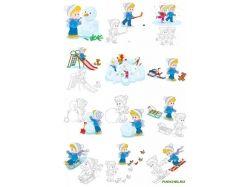 Картинки дети на катке зимой
