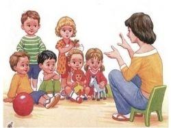 Картинки воспитатель и дети в детском саду