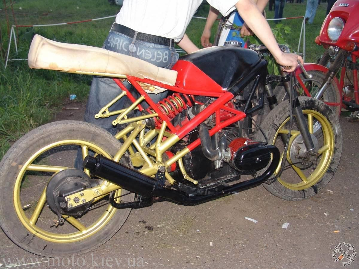 Как сделать мотоцикл под спорт