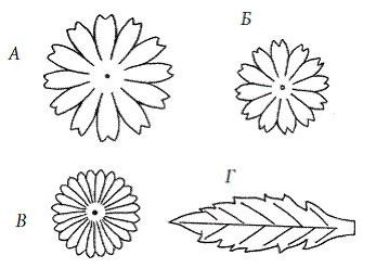 Ромашки своими руками схемы шаблоны