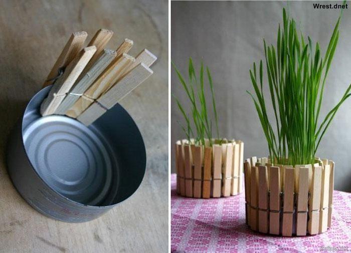 Подставка для цветов из подручных материалов