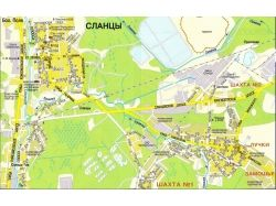 Карта города с улицами 8