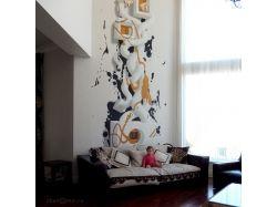 Рисунки на стенах абстракция 7