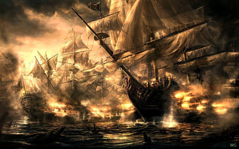 Обои рабочего стола пиратский корабль