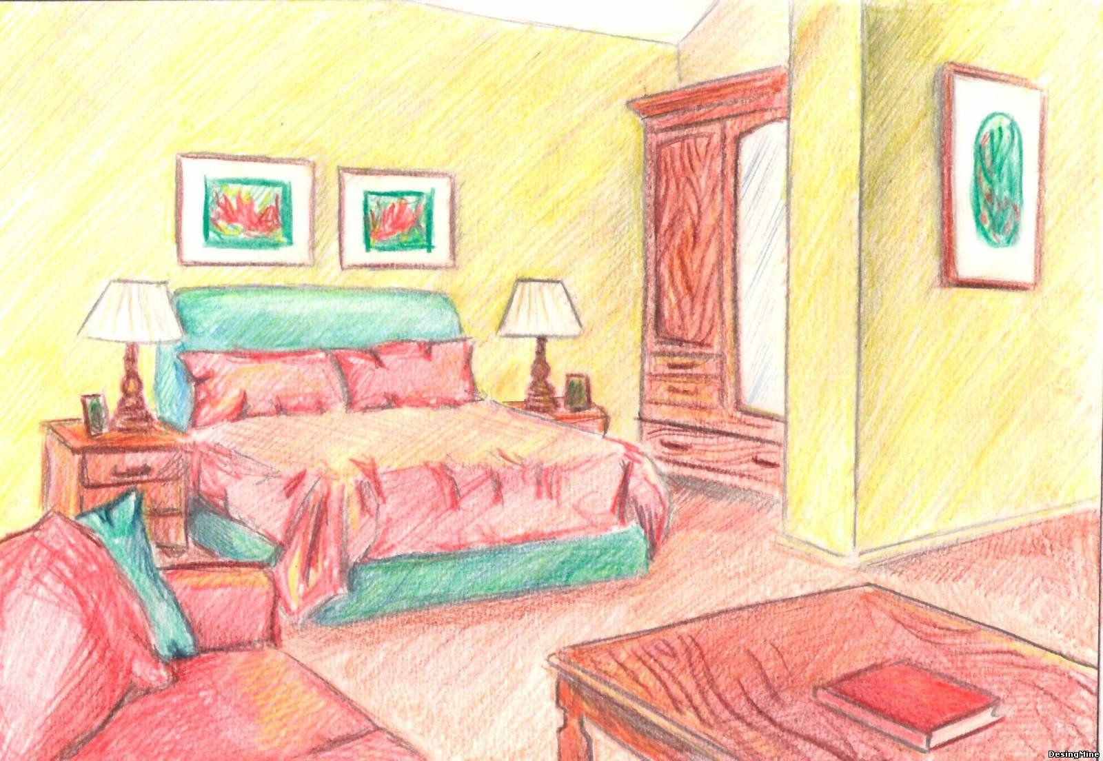 Рисунки комнат рисовать