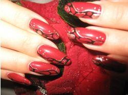 Абстракция ногти фото 7
