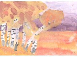 Детские рисунки осень золотая 7