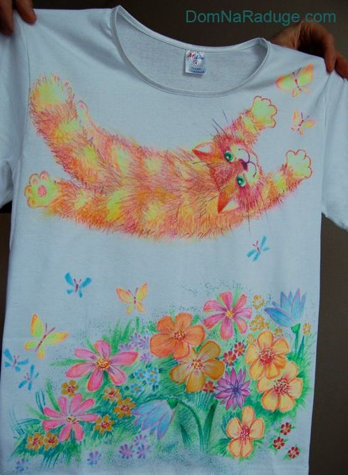 Рисунки на футболку своими руками фото