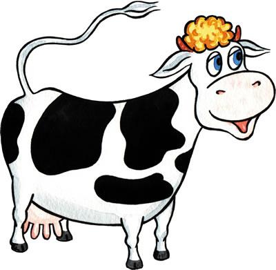 Корова рисунок ребенку