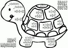 Болотная черепаха - раскраски для детей 7