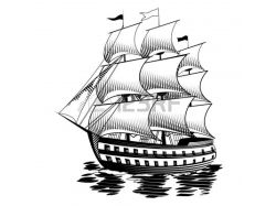 Корабли картинки нарисованные 7