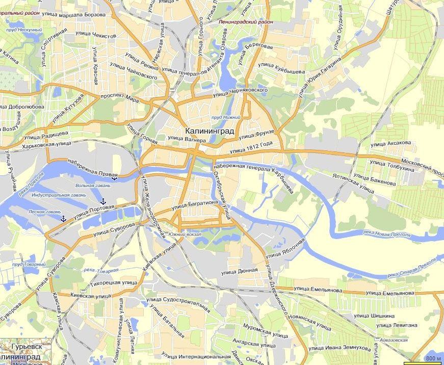 Карта Калининграда С Улицами И Домами Скачать - фото 4